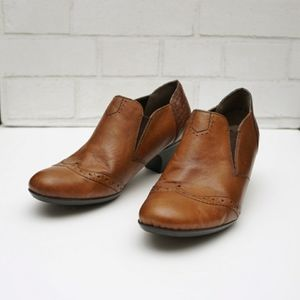 Two tone leather loafers